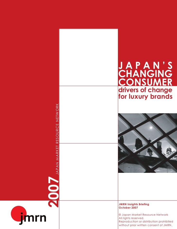 Japans Changing Consumer