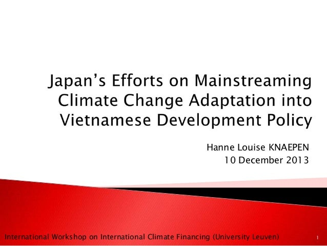 Japan's efforts on mainstreaming climate change adaptation into vietnamese development policy