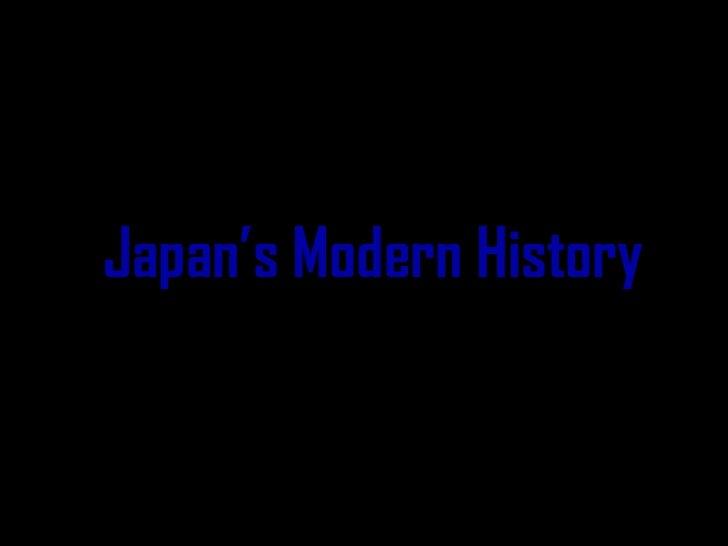 Japan's Modern History