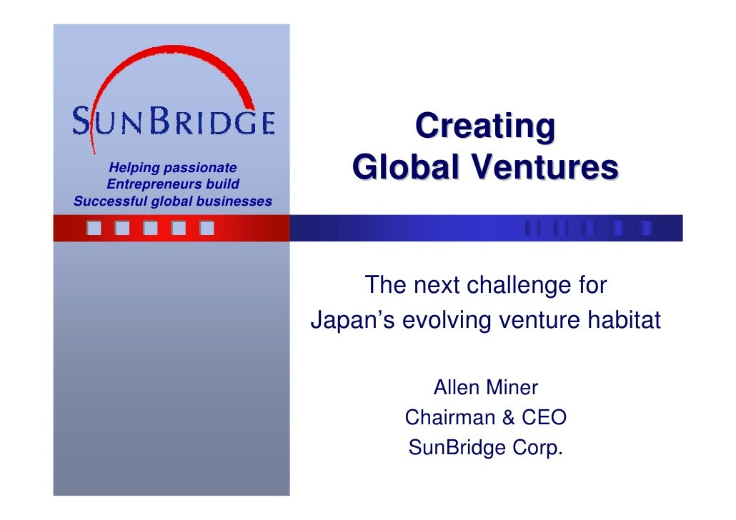 Japan's venture habitat