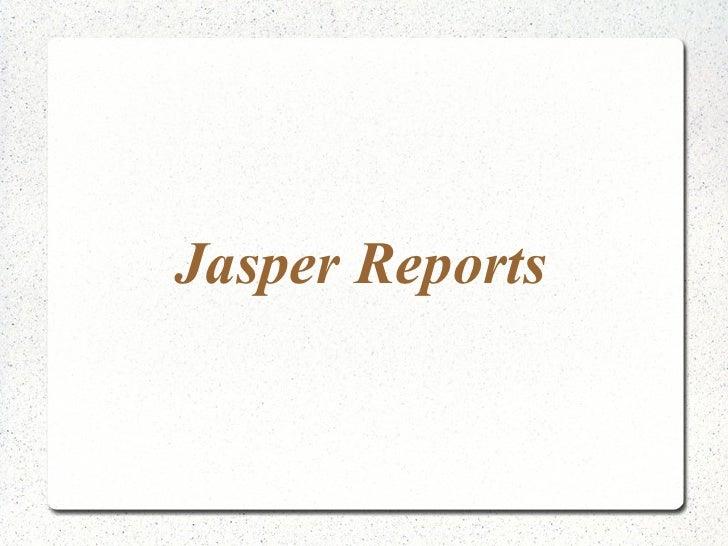 Japer Reports