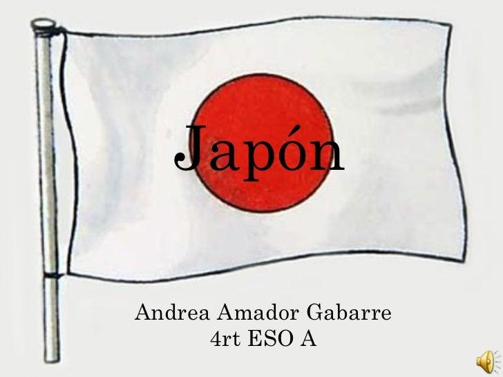 Andrea Amador Gabarre 4rt ESO A Japón