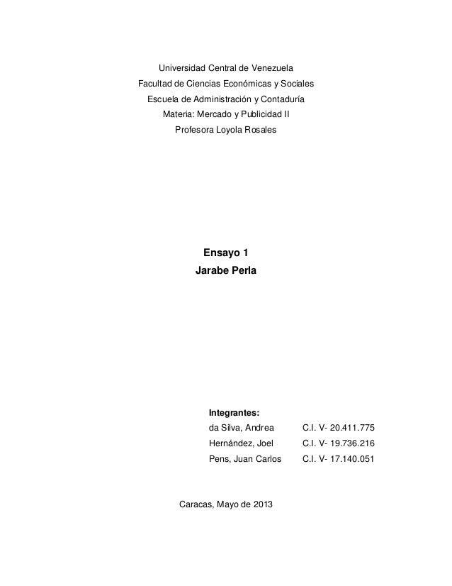 Universidad Central de VenezuelaFacultad de Ciencias Económicas y SocialesEscuela de Administración y ContaduríaMateria: M...