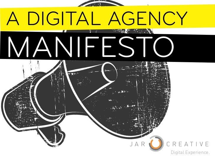 A Digital Agency Manifesto