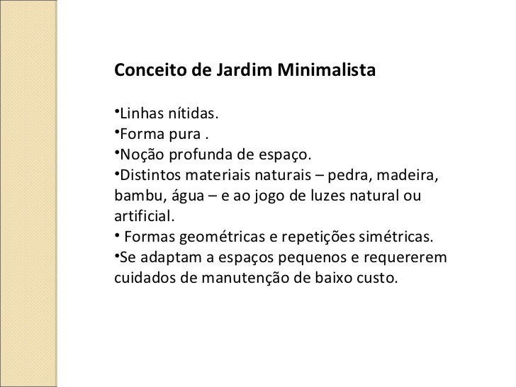 Jardim minimalista for Minimal art slideshare