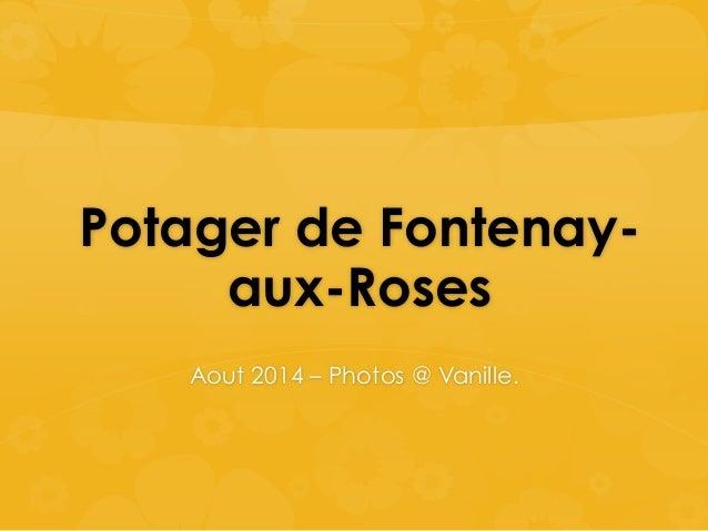 Potager de Fontenay-aux-  Roses  Aout 2014 – Photos @ Vanille.
