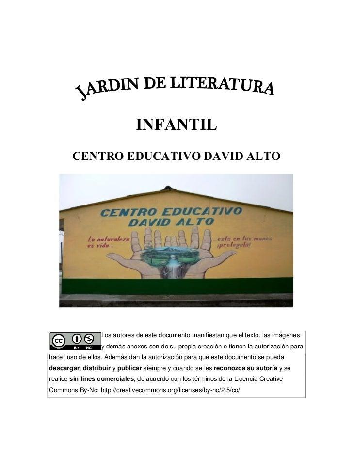 Jardin de literatura infantil cartilla digital for Jardin infantil