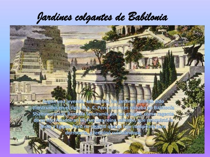 Jardines colgantes de babilonia for Jardines colgantes de babilonia