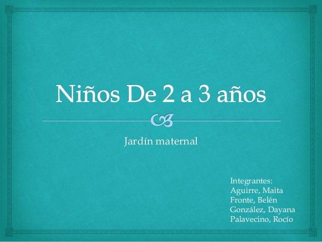 Jard n maternal ni os de 2 a 3 a os for Actividades para jardin maternal sala de 2