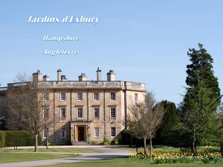 Les jardins dExbury sétendent sur 100 hectares.                              Lensemble du parc a été créé par Lionel de Ro...