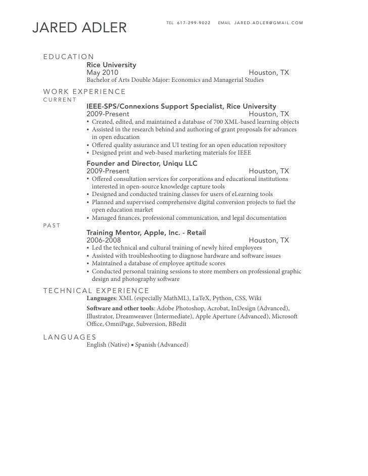 Jared Adler Resume