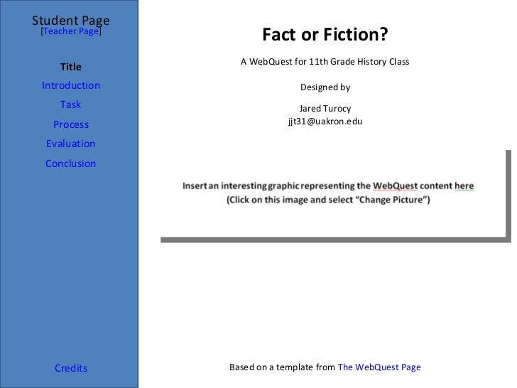 Jared turocy webquest
