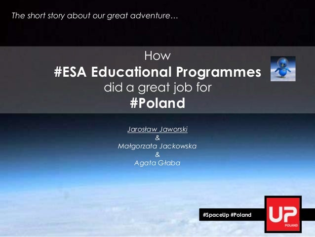 How #ESA Educational Programmes did a great job for #Poland