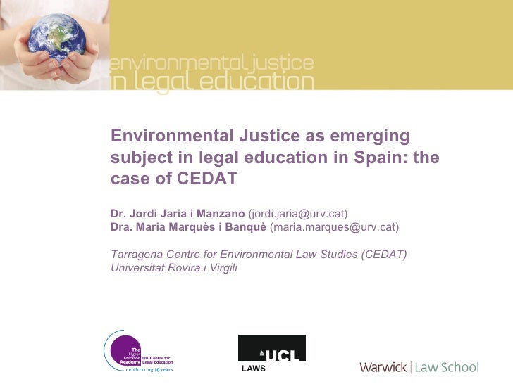 Environmental justice as an emerging subject in Spain: the case of CEDAT