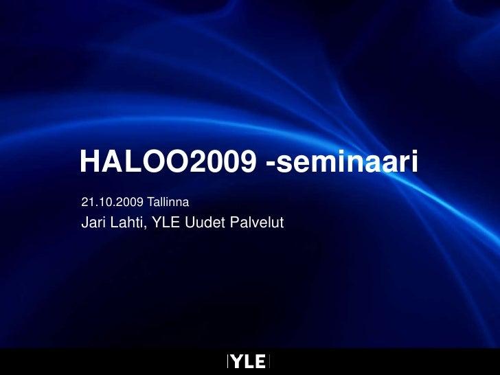 Jari Lahti Tallinna 21.10.2009 Final