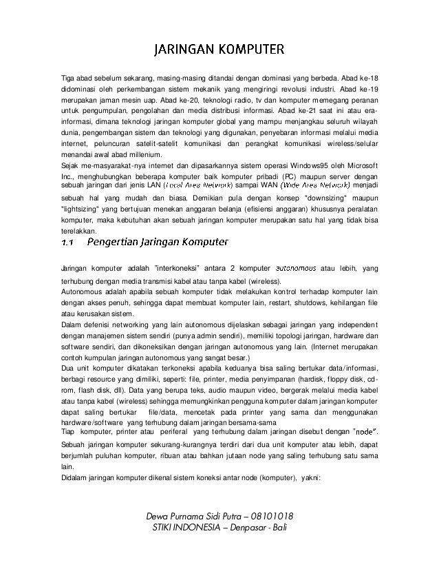 Dewa Purnama Sidi Putra – 08101018STIKI INDONESIA – Denpasar - BaliTiga abad sebelum sekarang, masing-masing ditandai deng...
