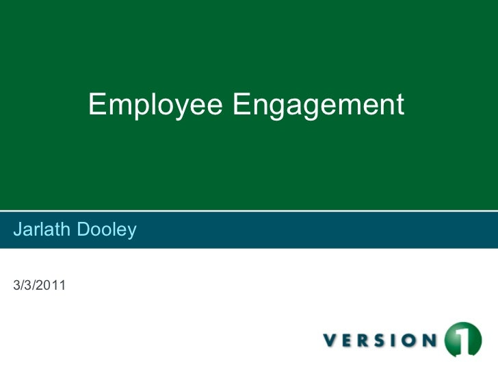 Jarlath Dooley    Staff Engagement