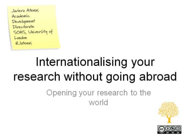 Internationalising your research without going abroad