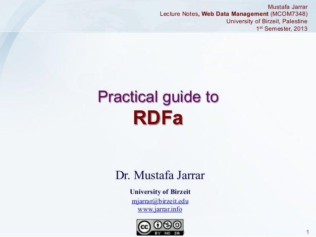 Jarrar: RDFa