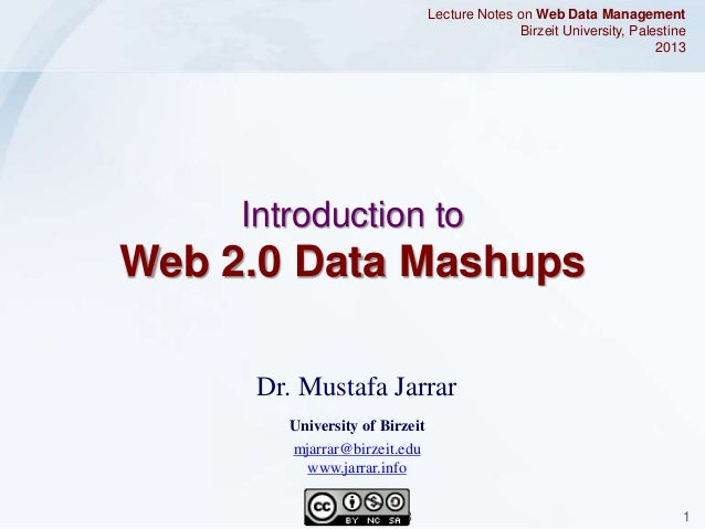 Jarrar: Web 2.0 Data Mashups