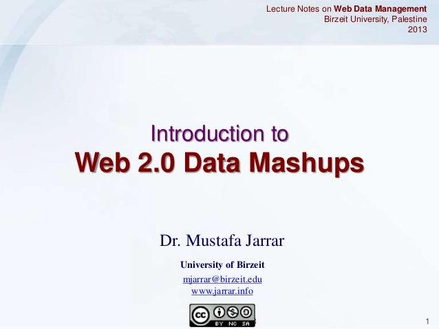 Jarrar: Web 2.0 Data Mashups