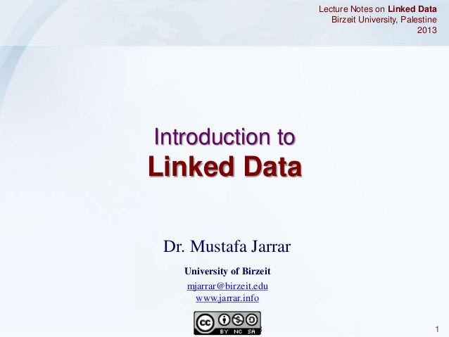 Jarrar: Introduction to Linked Data
