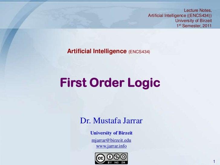 Jarrar: First Order Logic