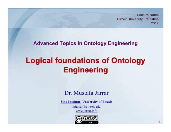 Jarrar.lecture notes.ontologyintroduction