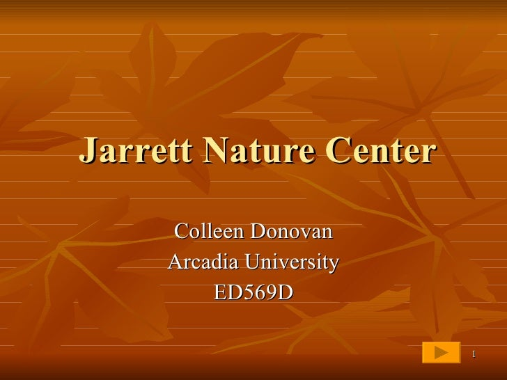 Jarrett Nature Center