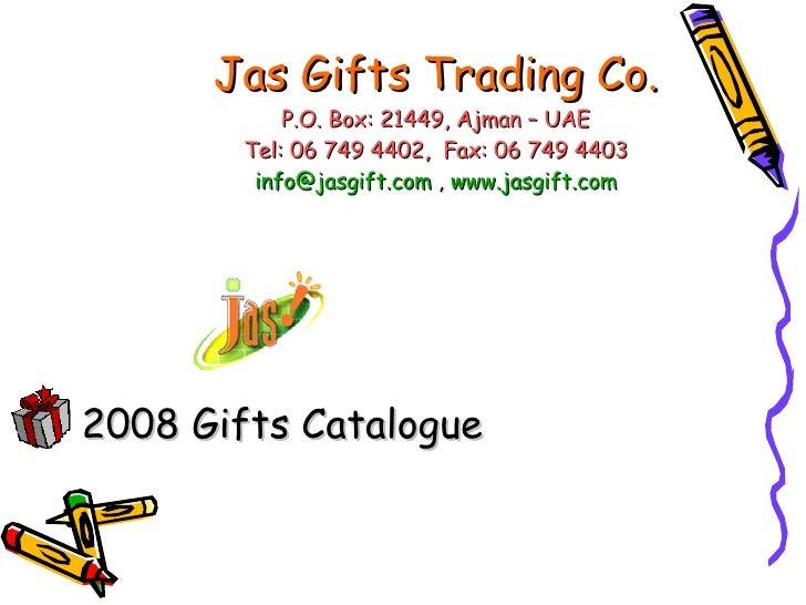 Jas Gifts 2008 Catalogue