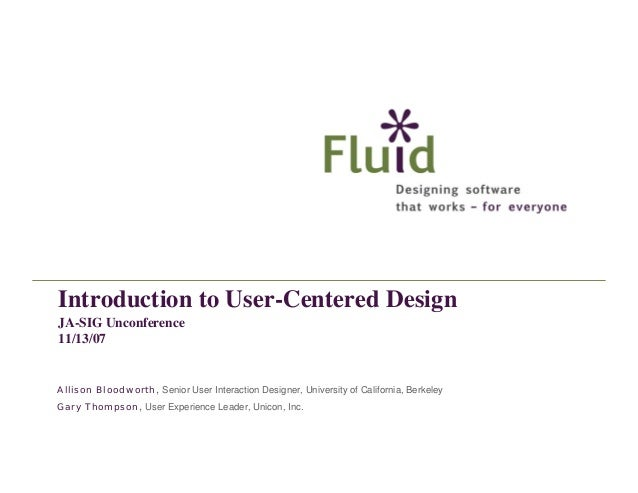 Introduction to User-Centered Design