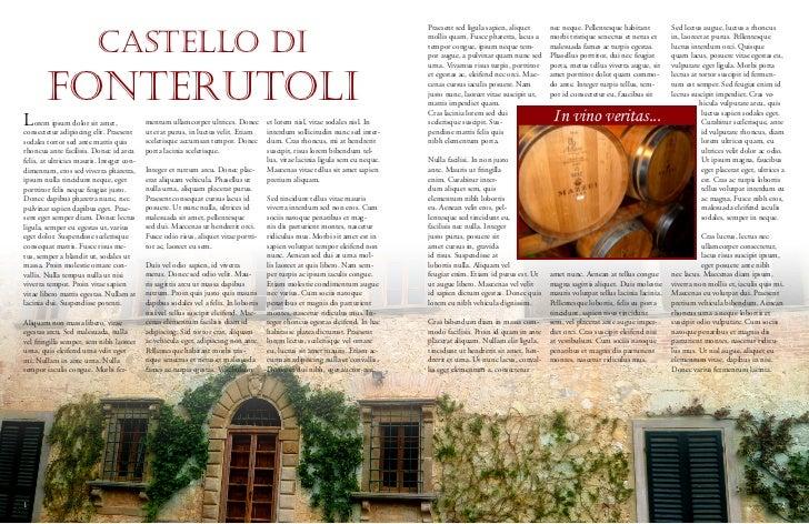 Mazzei Winery magazine spread