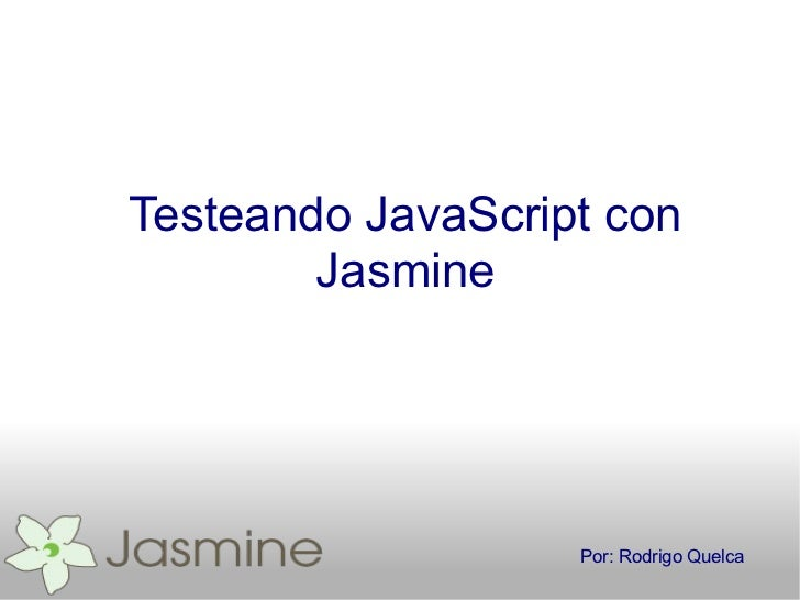 Introduccion a Jasmin