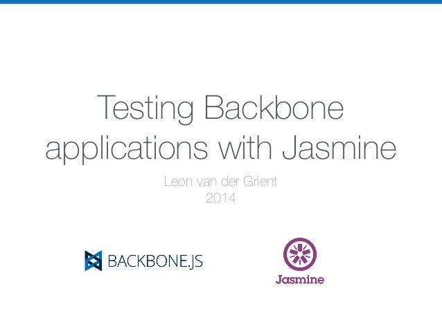Testing Backbone applications with Jasmine