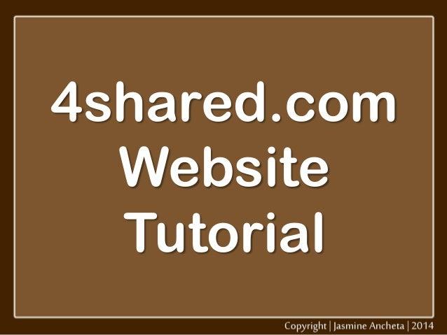 4shared.com Website Tutorial