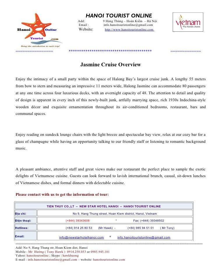 Jasmine cruise overview, Jasmine Cruise, Jasmine Sail