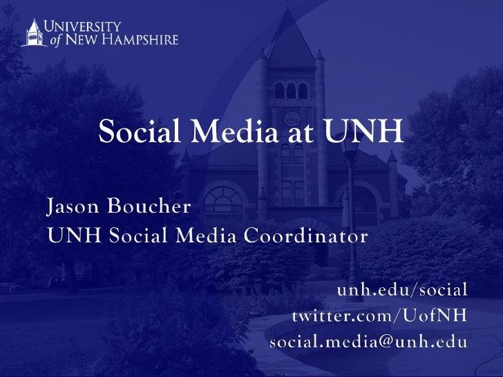 Social Media at UNH