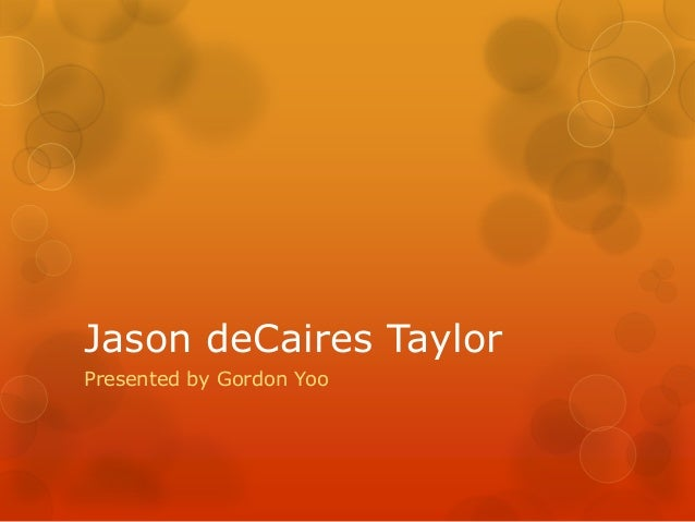 Jason deCaires Taylor Presented by Gordon Yoo