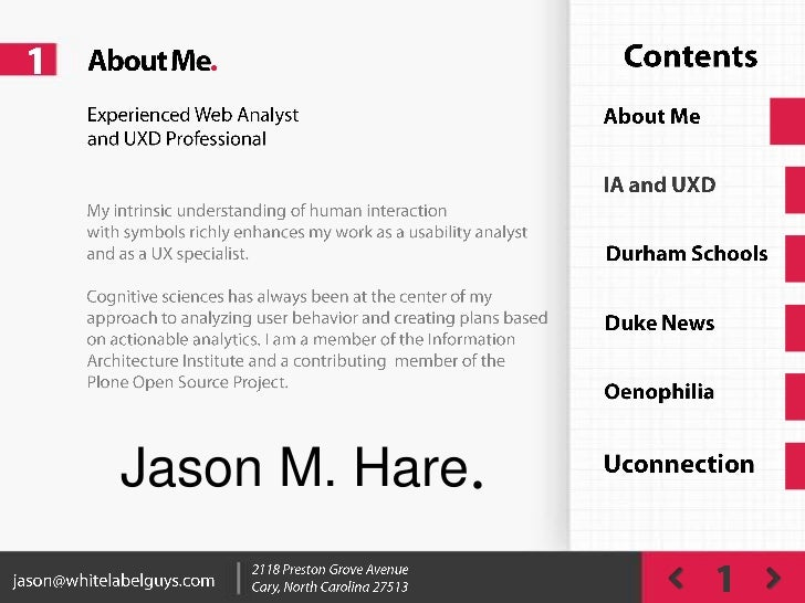 Jason Hare UX Work