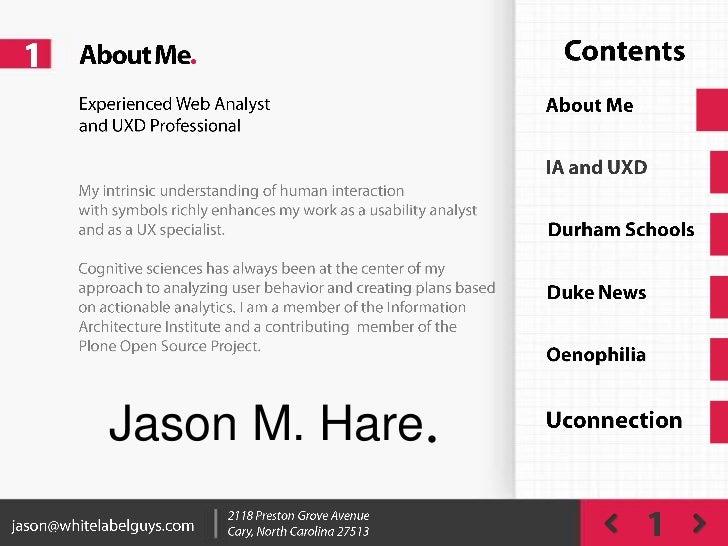 Jason Hare UX Work