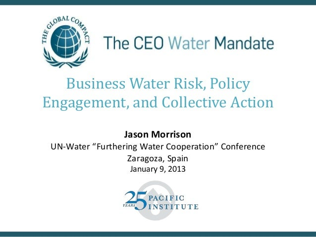 Business Water Risk, Policy Engagement, and Collective Action