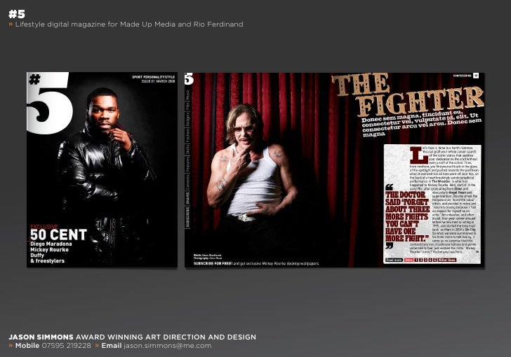 #5 » Lifestyle digital magazine for Made Up Media and Rio Ferdinand     Jason simmons award winning art direction and desi...
