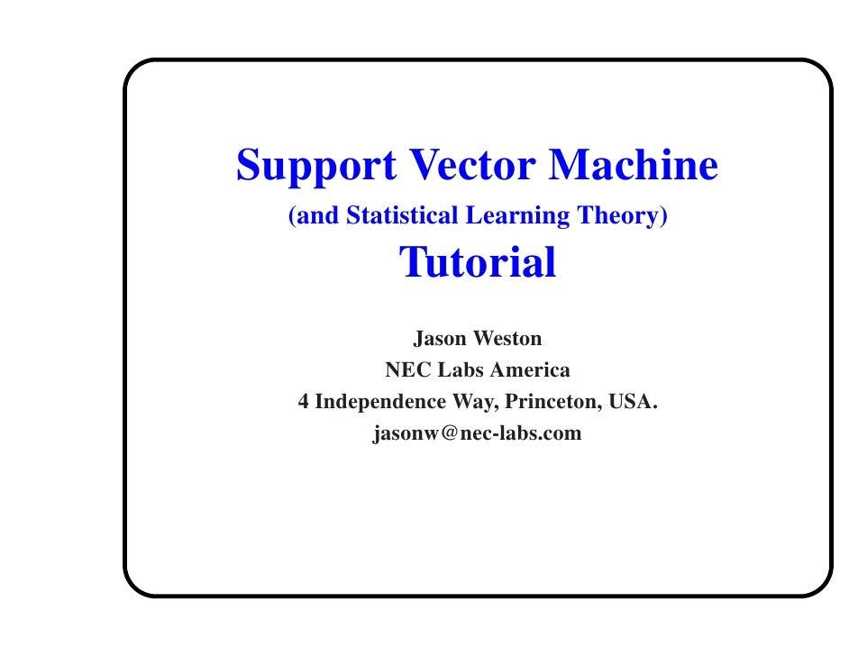 Jason svm tutorial