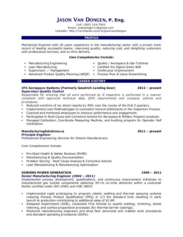 Jason Van Dongen Resume 2013