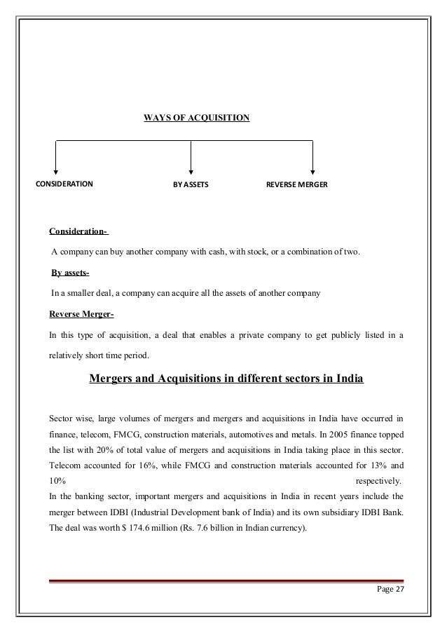 merger acquisition paper The objective of this paper is to provide the theoretical framework of mergers & acquisitions (m&a) besides, this paper aims to look at the mergers & acquisitions (m&a) as the strategic concepts for the nuptials of corporate sector ©2012, ijbm, all right reserved keywords: m&a, synergy.