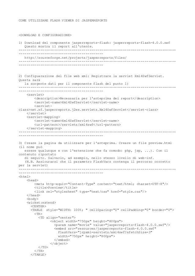 Jasper report   anteprima con flash viewer [bysc]