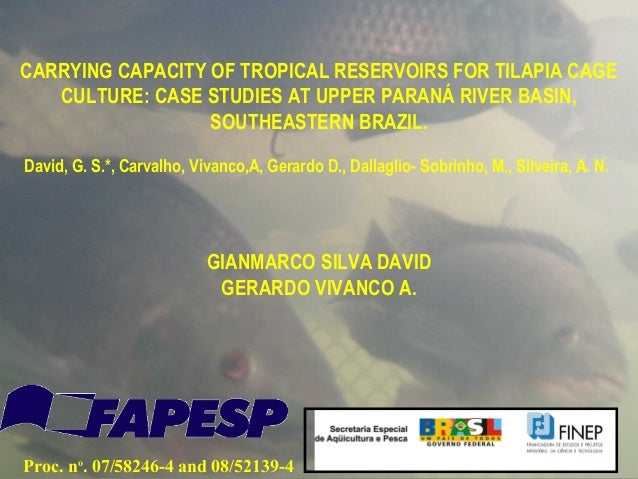 CARRYING CAPACITY OF TROPICAL RESERVOIRS FOR TILAPIA CAGE   CULTURE: CASE STUDIES AT UPPER PARANÁ RIVER BASIN,            ...