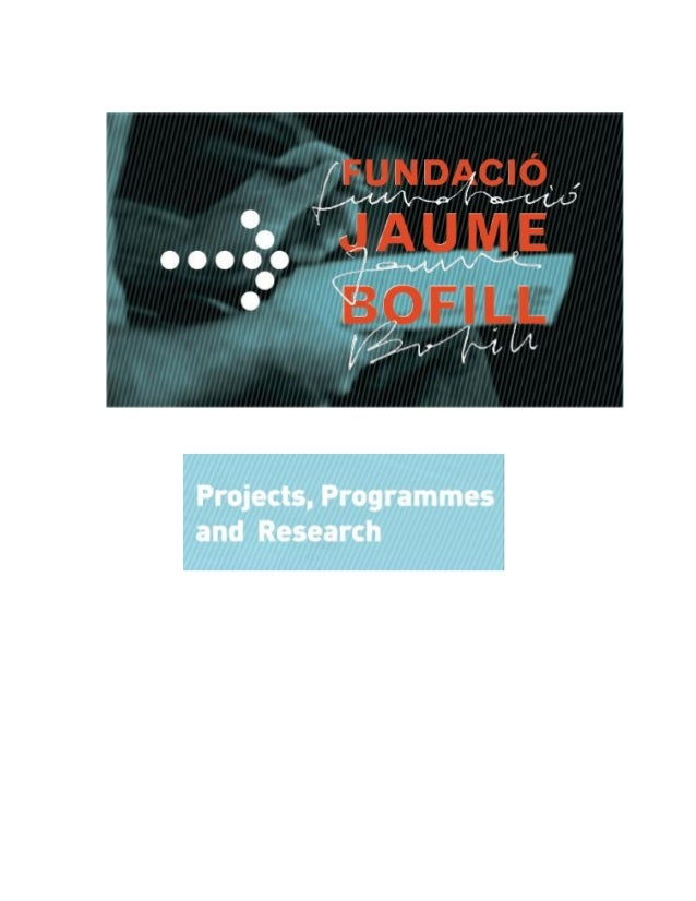 The Jaume Bofill Foundation focuses on improving and developing education for all in order to achieve a more cohesive and ...