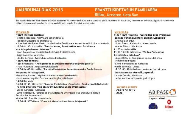 JORNADAS DE CORRESPONSABILIDAD PARENTAL EL 4 Y 5 DE OCTUBRE EN BILBAO  Slide-1-638