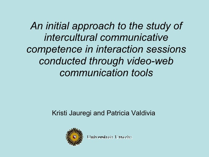 An initial approach to the study of intercultural communicative competence in interaction sessions conducted through video...